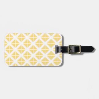 黄色く粋な三角形パターン ラゲッジタグ
