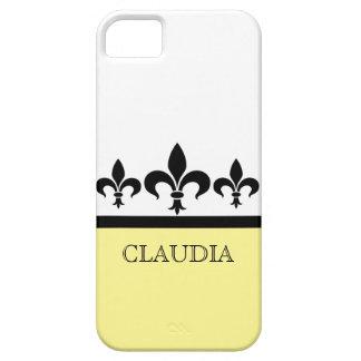 黄色く粋な(紋章の)フラ・ダ・リBTのiPhone 5の箱 iPhone SE/5/5s ケース