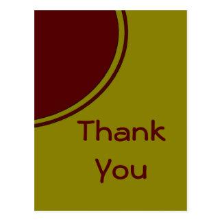 黄色く赤い円は感謝していしています ポストカード