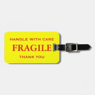 黄色く赤い壊れやすい心配と感謝していしています扱います ラゲッジタグ