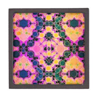 黄色く青いピンクの抽象芸術パターン ギフトボックス