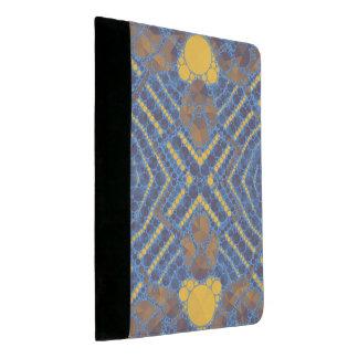黄色く青くきらきら光るな抽象芸術 パッドフォリオ