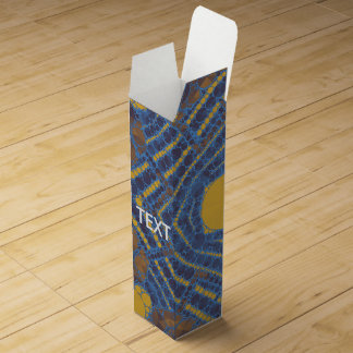 黄色く青くきらきら光るな抽象芸術 ワインギフトボックス