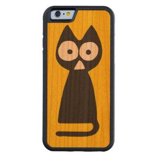 黄色く黒い三角形の記号による猫 CarvedチェリーiPhone 6バンパーケース