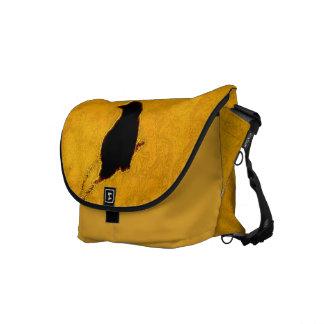 黄色についてのカラス メッセンジャーバッグ