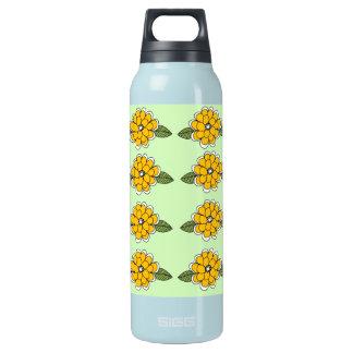 黄色によっては緑が開花します 断熱ウォーターボトル
