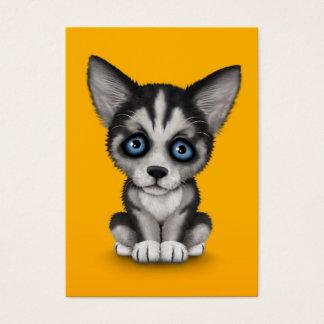 黄色のかわいいシベリアンハスキーの小犬 名刺