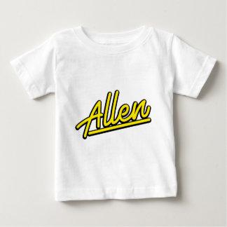 黄色のアレン ベビーTシャツ