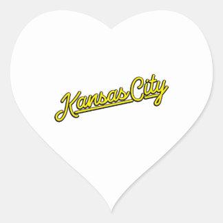 黄色のカンザスシティ ハートシール