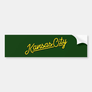 黄色のカンザスシティ バンパーステッカー