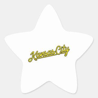 黄色のカンザスシティ 星シール