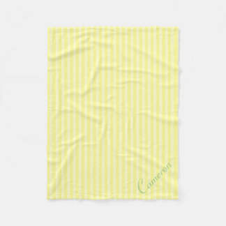 黄色のストライプパターン| Personalzedの2つの陰 フリースブランケット