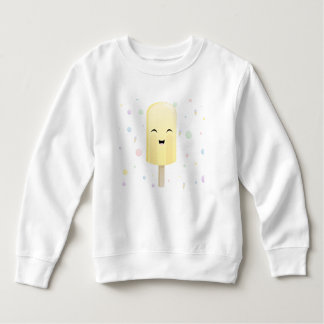 黄色のスマイルのアイスキャンデー スウェットシャツ