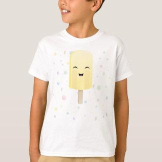 黄色のスマイルのアイスキャンデー Tシャツ