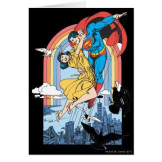 黄色のスーパーマン及びLois カード