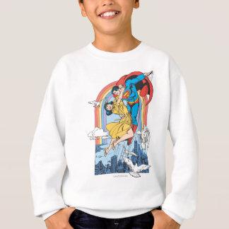 黄色のスーパーマン及びLois スウェットシャツ