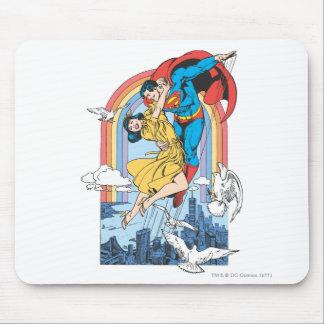 黄色のスーパーマン及びLois マウスパッド