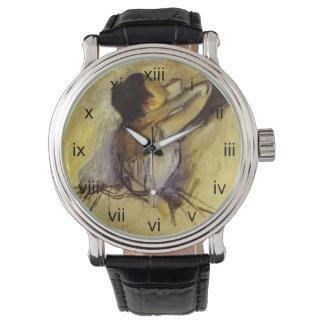 黄色のダンサーのガスを抜いて下さい 腕時計