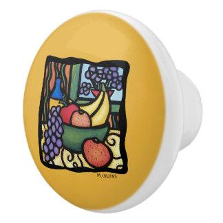 黄色のデザート用深皿 セラミックノブ