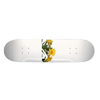 黄色のトランペット花の切り出しの写真 20.6CM スケートボードデッキ