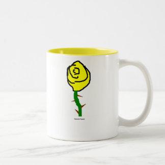 黄色のバラかマグ ツートーンマグカップ