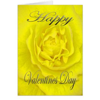 黄色のバレンタインの花 カード