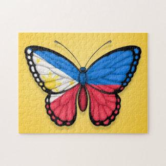 黄色のフィリピンの蝶旗 ジグソーパズル