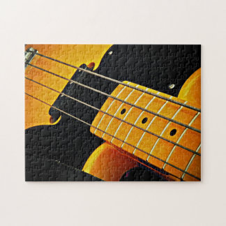黄色のベースギター ジグソーパズル