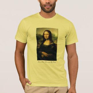 黄色のモナ・リザ Tシャツ