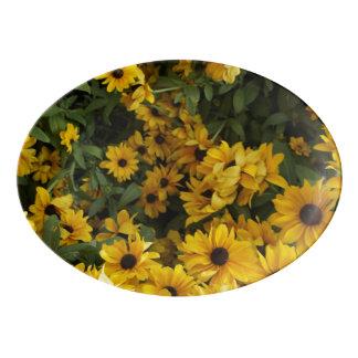 黄色の分野 磁器大皿