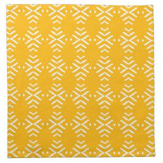 黄色の抽象芸術との4の置かれるナプキン ナプキンクロス