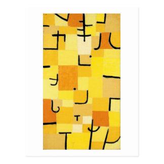 黄色の抽象芸術パウル・クレーのキャラクター ポストカード