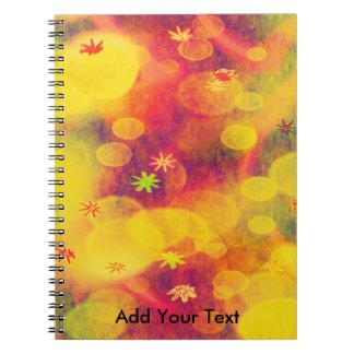 黄色の泡及び花 ノートブック