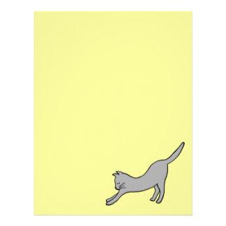 黄色の灰色の伸張猫 レターヘッド