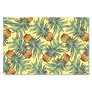黄色の熱帯パイナップルパターン 薄葉紙