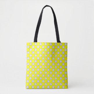 黄色の白黒のバレーボールの球 トートバッグ