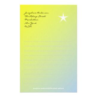 黄色の紙の星 便箋