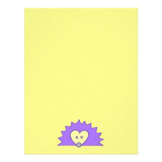 黄色の紫色のハリネズミ レターヘッド
