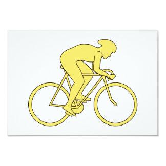 黄色の自転車のライダー カード