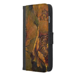 黄色の色彩の鮮やかな花 iPhone 6/6S PLUS ウォレットケース