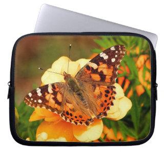 黄色の花の電子工学のバッグの蝶 ラップトップスリーブ