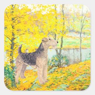 黄色の葉 スクエアシール