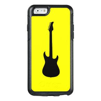 黄色の近代音楽の黒のエレキギター オッターボックスiPhone 6/6Sケース