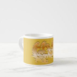 黄色の金ドラゴン エスプレッソカップ