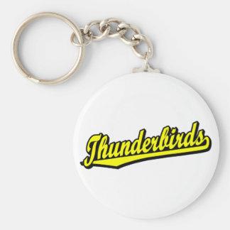 黄色の雷鳥 キーホルダー