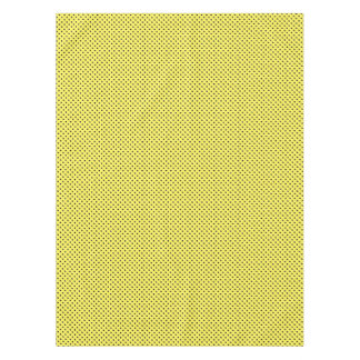 黄色の黒い点 テーブルクロス