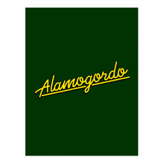 黄色のAlamogordo ポストカード