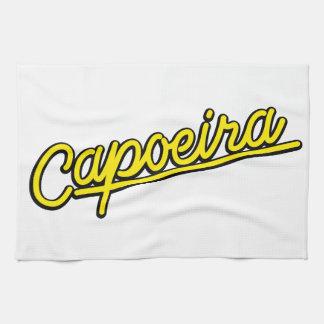 黄色のCapoeira キッチンタオル