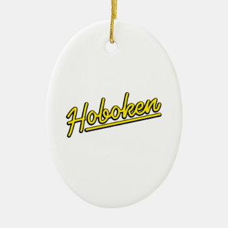 黄色のHoboken セラミックオーナメント