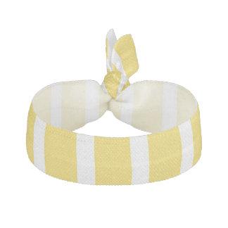黄色はヘアタイを縞で飾ります ヘアタイ